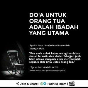 kata bijak berbakti pada orang tua dengan mendoakannya